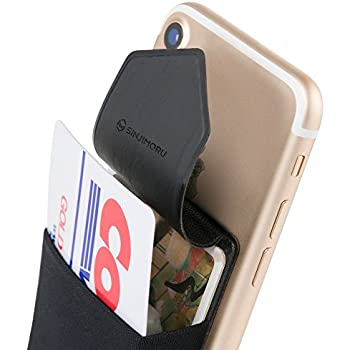 Amazon cardninja ultra slim self adhesive credit card wallet sinjimoru credit card holder for back of phone stick on wallet functioning as phone card holder phone card wallet iphone card holdercredit card case for reheart Gallery