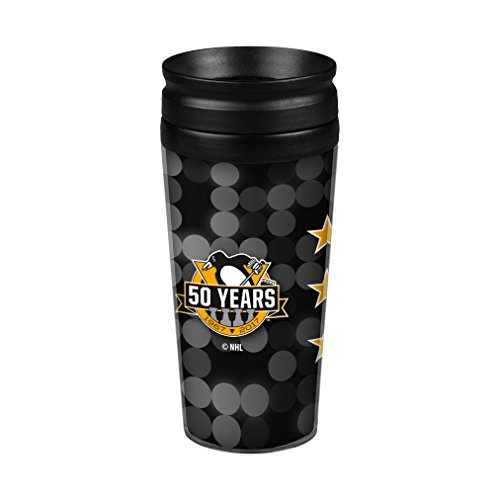 Boelter Brands NHL Pittsburgh Penguins Full Wrap Travel Tumbler, 14-Ounce