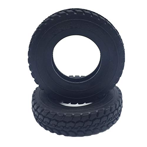 RC Hard Rubber Tires (4pcs) for Tamiya 1/14 Tractor Truck (Rc Tractor Tires)