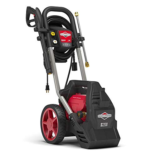 Briggs & Stratton Electric Pressure Washer 2200 PSI 1.2 GPM with 25' High-Pressure Hose, Turbo Nozzle & Detergent Foamer