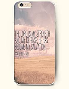 iPhone 4 4s Case,OOFIT iPhone 4 4s Hard Case **NEW** Case with the Design of the lord is my strength and my defense he has become my salvation psalm 118:14 NIV - Case for Apple iPhone iPhone 4 4s (2014) Verizon, AT&T Sprint, T-mobile