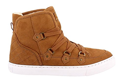 Women's Guess, Otter Lace up Ankle Boot CARAMEL 7 (Boot Caramel)