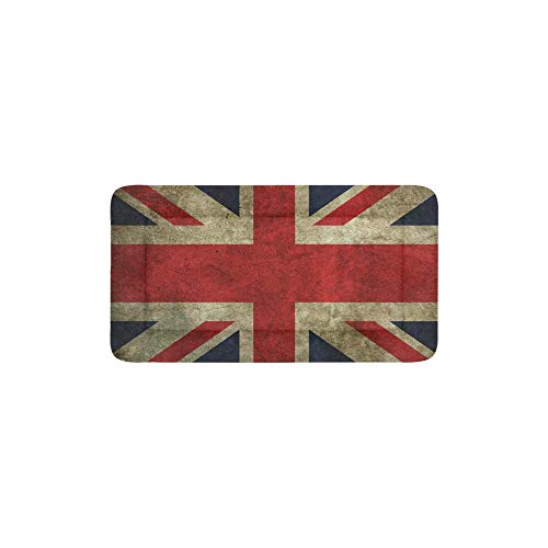 (VunKo Retro Union Jack Rectangle 24 Inch Pet Bed Home Mat for Dogs and Cats Indoor/Outdoor Machine Washable Kong Crate Mat)