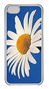 LJF phone case iphone 6 plus 5.5 inch Case, Personalized Custom White Daisy Against A Blue Sky for iphone 6 plus 5.5 inch PC Clear Case