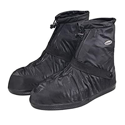 SZAT PRO Rain Boots Shoes Covers Waterproof Reusable Foldable Thicken Sole Overshoes Galoshes For Travelling Cycling Camping Fishing Garden Outdoors Women Men