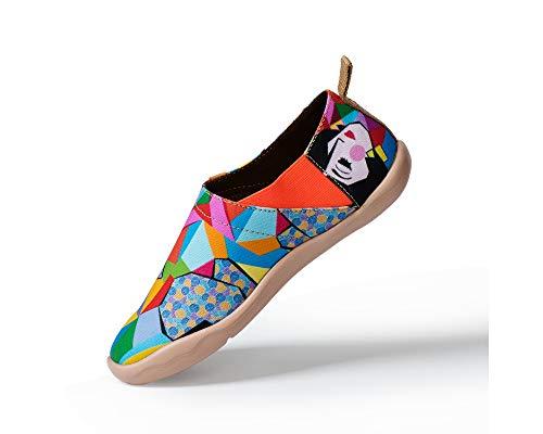 Scarpe Gatto Uin Bello Girl Mocassini Affascinante Rainbow Tela Viaggio Donna gvqTxP