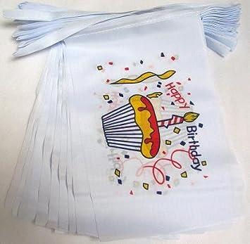 AZ FLAG Guirnalda 12 Metros 20 Banderas Feliz CUMPLEAÑOS ...