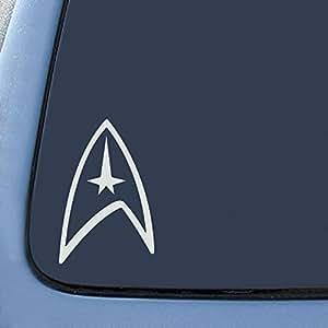 "Bargain Max Star Trek Federation Logo Sticker Decal Notebook Car Laptop 5.5"" (White)"