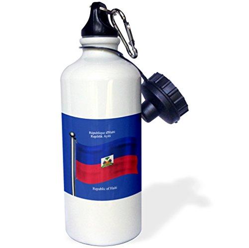 3dRose wb_63511_1 Sock Monkey Peeking Around Corner-Cute Animal Art Sports Water Bottle, 21 oz, White