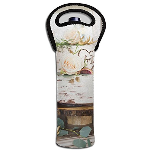 Beautiful Wedding Cake Stylish Wine Carrier Neoprene Water Insulated For Cold Soda \r\nHostess Gift Wine Tote And Carriers