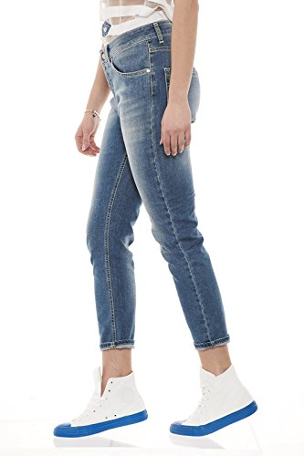 Bootcut Uwpa0874 Jeans Up Blue Donna xw861zt