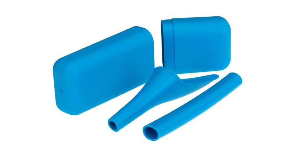 SHEWEE Extreme Dispositivo urinario femenino, para orinar de pie - Azul