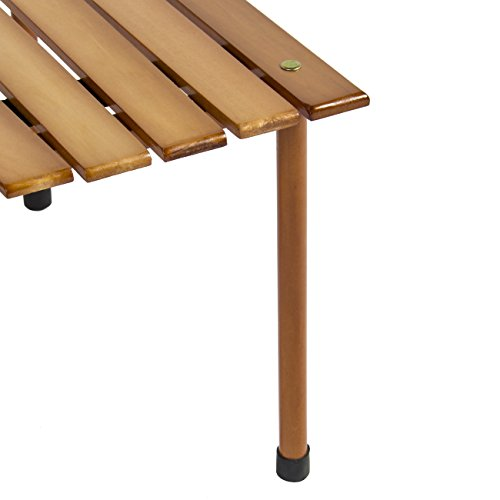 Best Choice Products Wooden Portable Table With Carrying