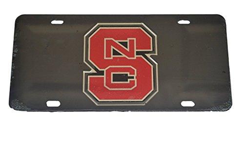 NC State Wolfpack Black Laser Cut Car Tag Block NCS Logo ()