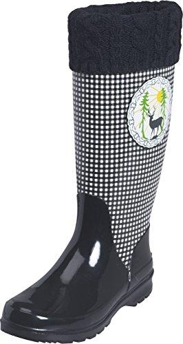 schwarz Noir Black Bottes Deer Femme Playshoes Schwarz Neige De 20 Wellies Yz04S