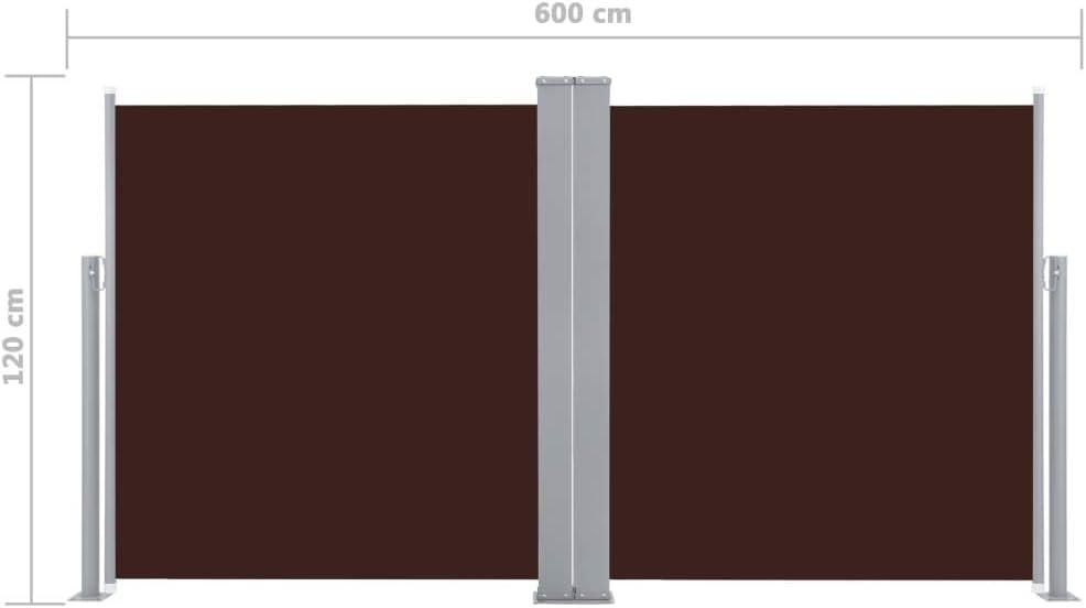 Balc/ón Patio Toldo Bilateral Toldo Extensible Rojo 170x600 cm Festnight Toldo Lateral Retr/áctil Toldo Retr/áctil para Jard/ín Terraza