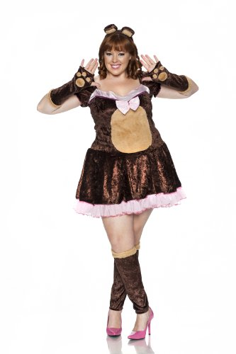 Delicious Beary Cute Costume, Brown/Pink, 2X
