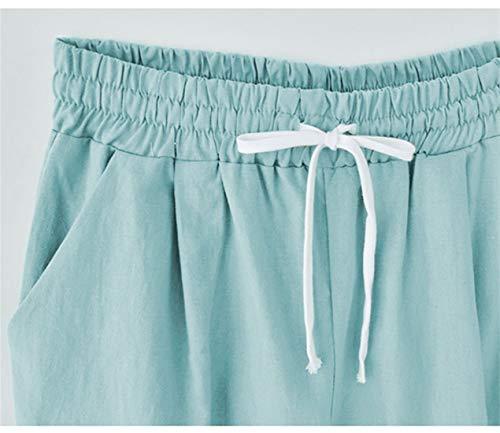 Sueltas Cortos de Cortos Mujeres Casuales Gran Pantalones Las Pantalones Mujeres Secciones de Verano Pantalones Negro Cinco Pantalones tamaño Negro de de BfUX1nqFx