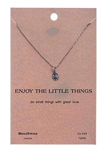 (Shag Wear Favourite Animals Inspirations Quote Pendant Necklace (Tiny Lady Bug)