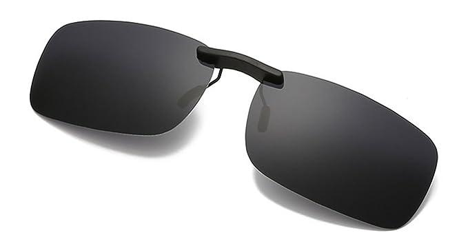 Flydo Lentes de gafas de sol polarizadas para anteojos recetados-Buenas gafas de sol estilo clip para gafas de miopía al aire ...