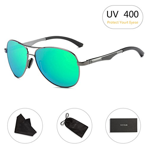 Aviator Sunglasses RAYSUN Aluminum Polarized Vintage Sun Glasses for Men Women UV 400