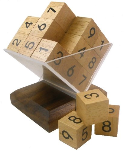 (3D Wooden SUDOKU Cube Puzzle and Game)
