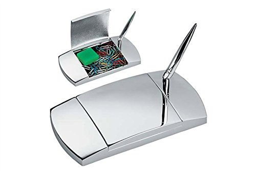 Schreib-Garnitur Ablage mit Kugelschreiber 17x10 cm Silber Plated versilbert B01MCX8URY | Hohe Qualität und geringer Aufwand