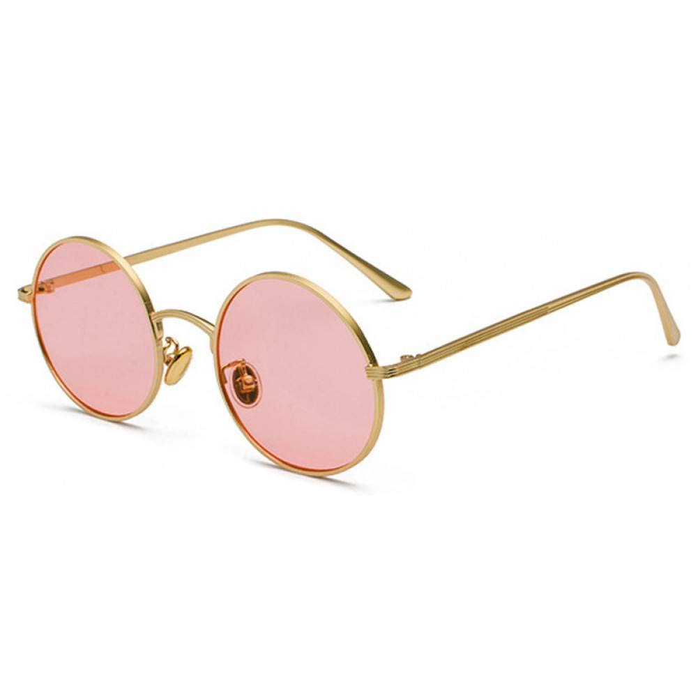 Siwen Gafas de Sol de Mujer con Lentes Rojas Gafas Redondas ...
