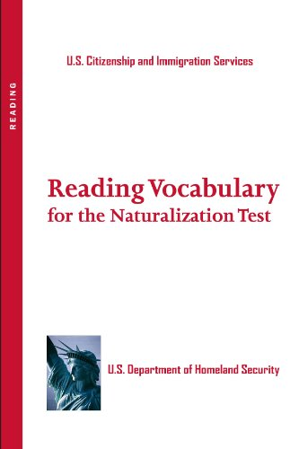 Reading Vocabulary Flash Cards for the Naturalization Test