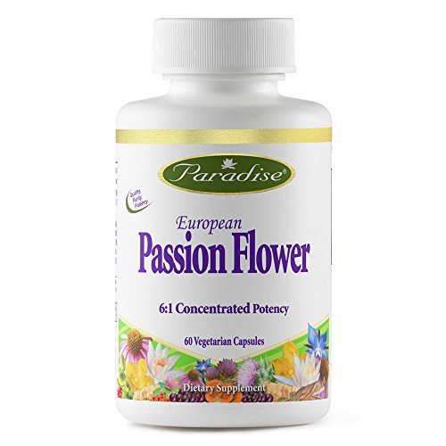Paradise Herbs Vegetarian Capsules, Passion Flower Extract, 60 Count