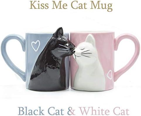 Beso gato Sistema de la taza de los pares del café,Conjunto de ...