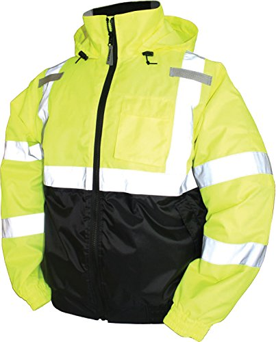 (Bomber Ii High Visibility Waterproof Jacket, Yellow, L)
