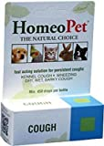 HomeoPet Cough Homeopathic Remedy for Dogs Cats and Birds 15 ml