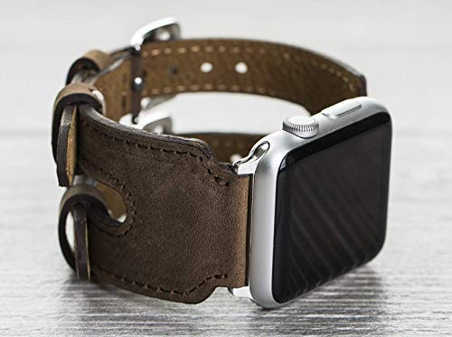 Genuine Leather Antic Brown Apple Watch Double Band, 42mm, 38mm, 40mm, 44mm for series 1-2-3-4