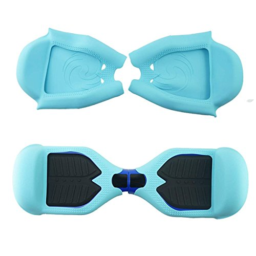 FBSPORT Silicone Case for T1 SWAGTRON Electric Self Balancing Scooter Full-Body Scratch Protector Cover Skin for T1 Hover Board (Scooter not Included) (Teal Blue)