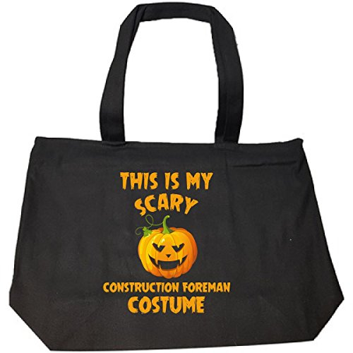 Construction Foreman Costume (This Is My Scary Construction Foreman Costume Halloween - Tote Bag With Zip)