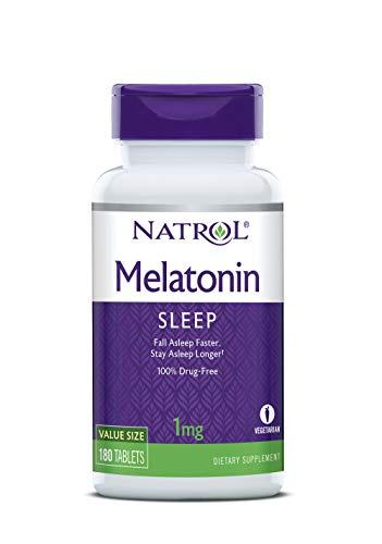 - Natrol Melatonin Tablets, 1mg, 180 Count