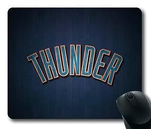 Oklahoma City Thunder NBA Rectangle Mouse Pad by eeMuse