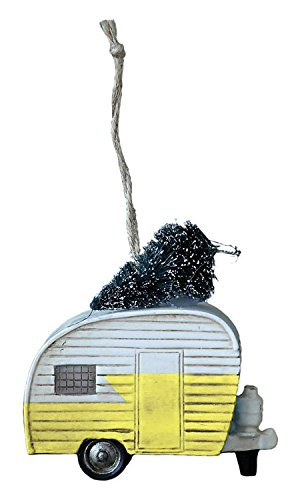 Yellow Christmas Ornament Creative Co op