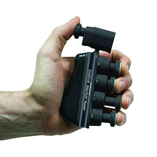 CanDo 10-3765 Digi-Flex Thumb, X-Heavy, Black (Pack of 10) by Cando