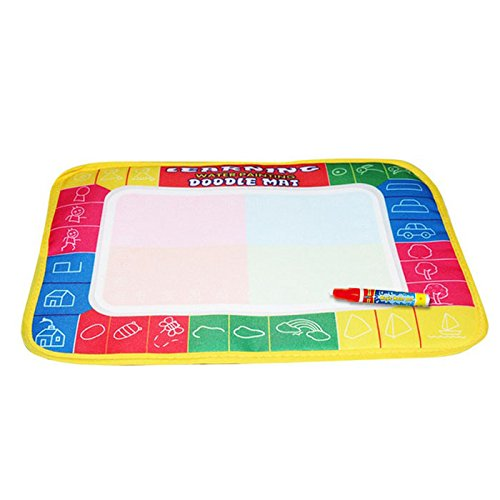 (Newdiva Water Drawing Painting Writing Mat Board with Magic Pen for Children - Large Water Drawing Doodling Mat Coloring Mat Educational Toys Gifts for Kids Toddlers Boys Girls Age 2 3 4 5 6 7 8 Year)