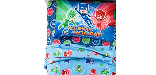 "Price comparison product image PJ Masks Twin Sheet Set ""Its Hero Time"""