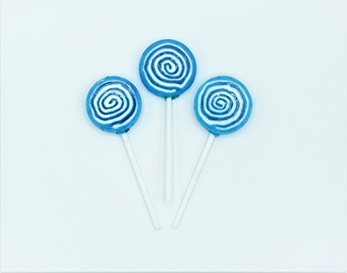 Candy Shop Blue Swirl Lollipops - 84 Pieces (2 lb Bag)