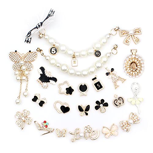 Shoe Charm Fits for Clog Sandals, Shoe Decoration Charms for Girls Women Fashion Crystal Rhinestone Charms Party Birthday Gifts (B-Multi colors-22PCS)