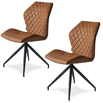 Damiware Rocky Esszimmerstühle 2er Set Design Stuhl Mit Stoffbezug