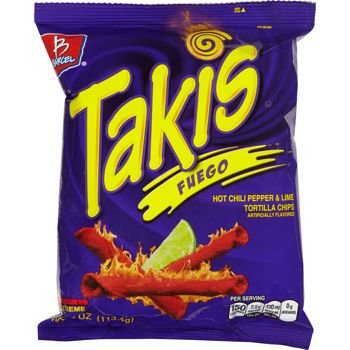 Amazoncom Barcel Takis Fuego Hot Chili Pepper Lime Tortilla