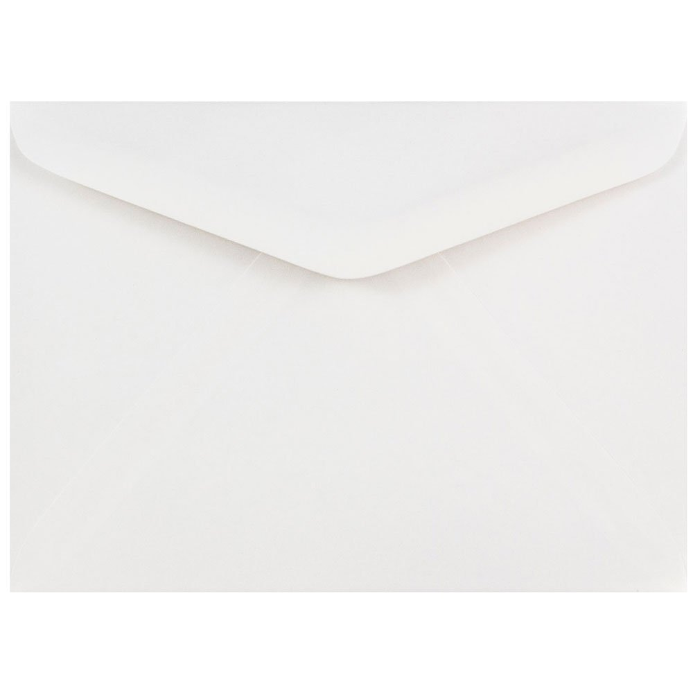 Blanco Paquete de 50 JAM PAPER Sobres de Invitaci/ón con V-Solapa 120,7 x 165,1 mm