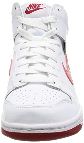 Nike Dunk Hi Heren Wit / Gym Rood