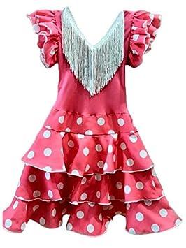 DISBACANAL Vestido andaluza Rosa para niña - Único, 12 Meses ...