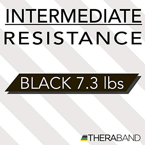TheraBand Resistance Bands, 6 Yard Roll Professional Latex Elastic Band For Upper & Lower Body, Core Exercise, Physical Therapy, Pilates, Home Workouts, Rehab, Black, Special Heavy, Advanced Level 1 by TheraBand (Image #7)
